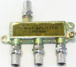 Разветвитель антенный 3TB метал белый(221,213,215)