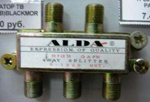 Разветвитель антенный 4TB ALDA метал(с F- разъемами)