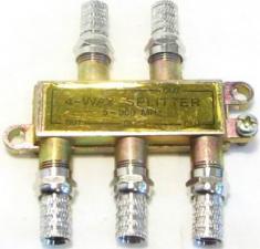 Разветвитель антенный 4TB метал белый(222)