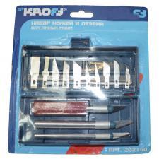 ножи и лезвия DIY KROFT набор для точных работ (3держателя+13лезвий) 202140