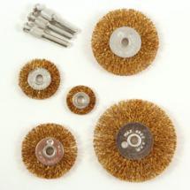Корщетки набор для УШМ-0622,диск25-75мм,5шт.адаптеры