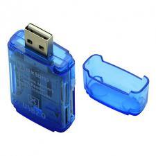 картридер OXION ,SD,MS,M2,TF(microSD) до 32Гб USB 2.0(OCR002BL) (1000)