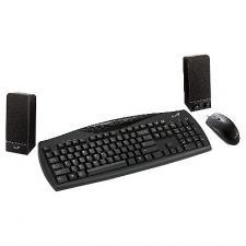 Компьютерный набор GENIUS KMS U110(клав.KB-09e+мышьNS120+колонки SP-U110)USB