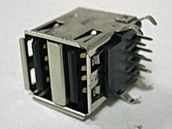 Гнездо USB A на плату двойное(3114)(05-0003)