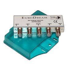 переключатель Diseqc 2.0 4x1 GTP-5400 в пластике, подключ до 4 антенн к 1 ресиверу