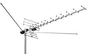 Антенна ТВ L.025.12 всеволновая с усилит на несколько ТВ для удаленного приема
