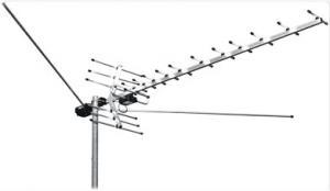 Антенна ТВ МЕРИДИАН(L025.09) всеволновая МВ/ДМВ с усилит на несколько ТВ