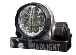 фонарь налоб 12 светод. 0.5W №202 мощн.