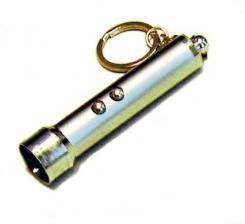 Фонарь-брелок 2 светод. 117-2 +лазер G13
