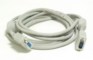 Удлинитель VGA Premium Gembird CC-PPVGAX-10M 15M/15F 10м феррит. кольца, тройной экран