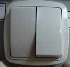 Выключатель двойной закр пр глянец С510-041