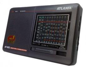 Радиоприемник At-802 FM СВ 7КВ сетевой