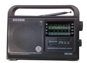 Радиоприемник DEGEN DE-392 солнечн батар динамо аккумулятор