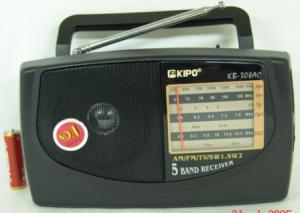 Радиоприемник KB-308 сетевой 4 диапазона