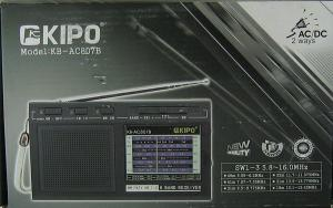 Радиоприемник KB-807 сетевой 6 диапазонов тонкий