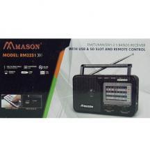 Радиоприемник MASON 2231 (FM 64-108,AM 5 Bands) SD,USB