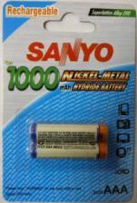 Аккумулятор HR03(AAA) SANYO 1000 мА