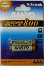 Аккумулятор HR03(AAA) SANYO 800 мА