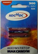 Аккумулятор HR03(AAA) КОСМОС 900мА