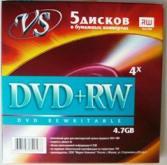 bulk DVD+RW VS-4.7Г конверт
