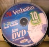 mini bulk DVD-RW VERBATIM 1,4G