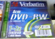 mini DVD-RW VERBATIM 1.46G защита от царапин