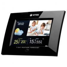 метеостанция VITEK-6406 цифровая фоторамка беспроводная,часы