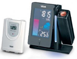 метеостанция VITEK-6402 беспроводная,цветной дисплей часы